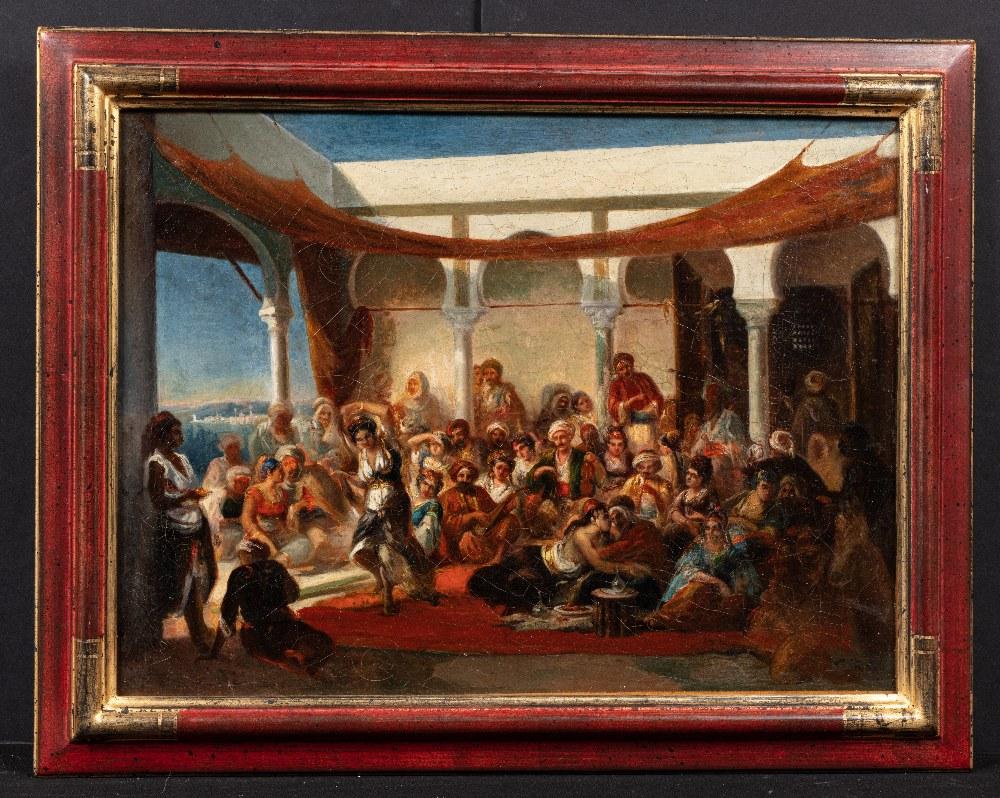 Alfred DEHODENCQ (Paris 1822-1882)Danseuse et favoritesHuile sur toile 40,5 x 54 cm Porte au dos sur - Image 2 of 3