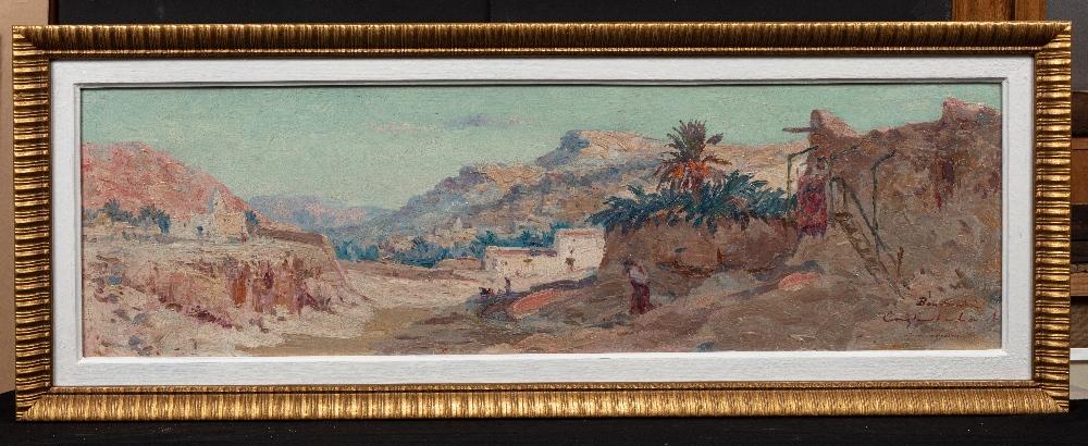 Constant LOUCHE (Alger1880 - Grenoble 1965)Bous SaâdaHuile sur isorel 30 x 100 cm Soigné et localisé - Image 2 of 3