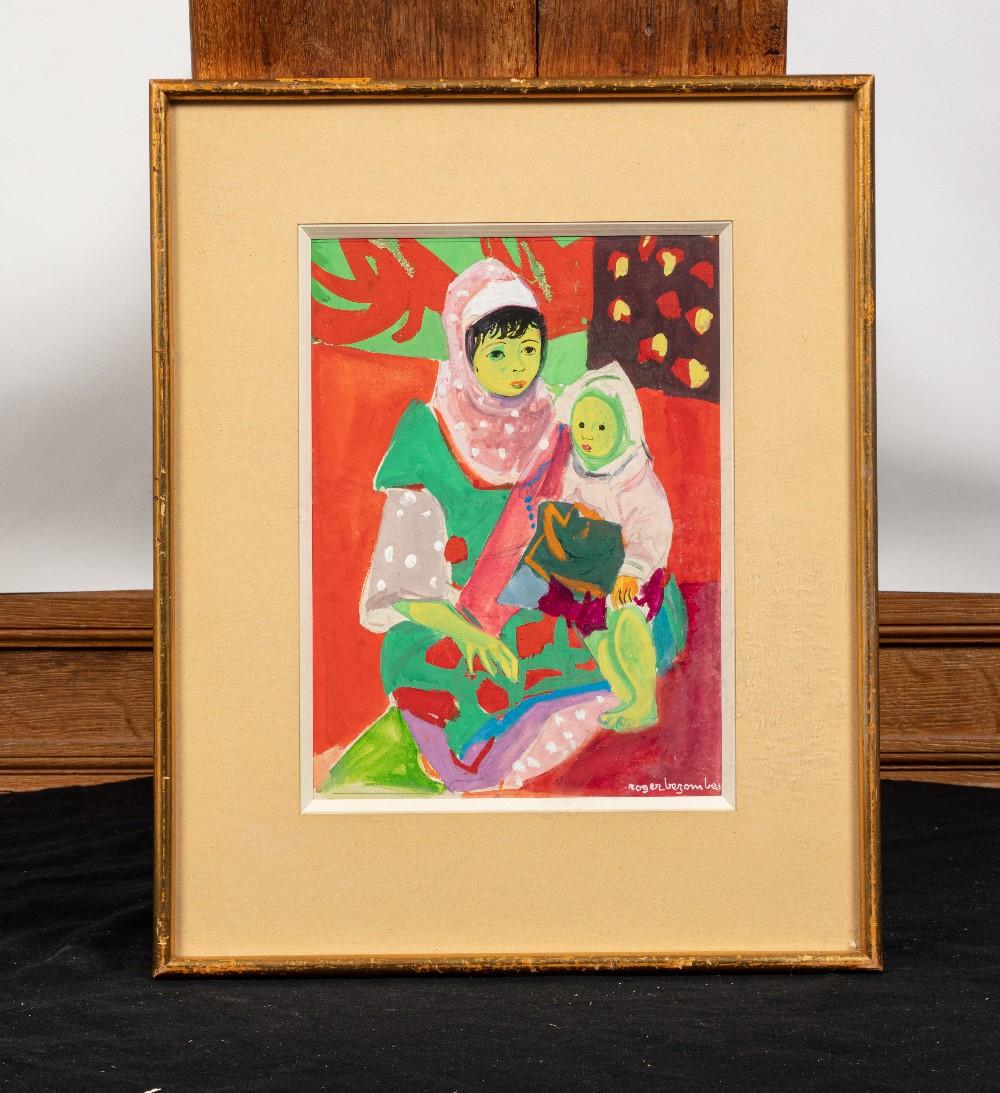 """Roger BEZOMBES (Paris 1913-1994)AÏcha, 1953Gouache A vue: 26,5 x 19 cm Signé en bas à droite """" - Image 2 of 2"""