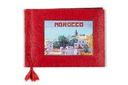 KIRBY (John)Album de peintures. sl, , 1958Bel album d'un journal de voyage au Maroc, traversant