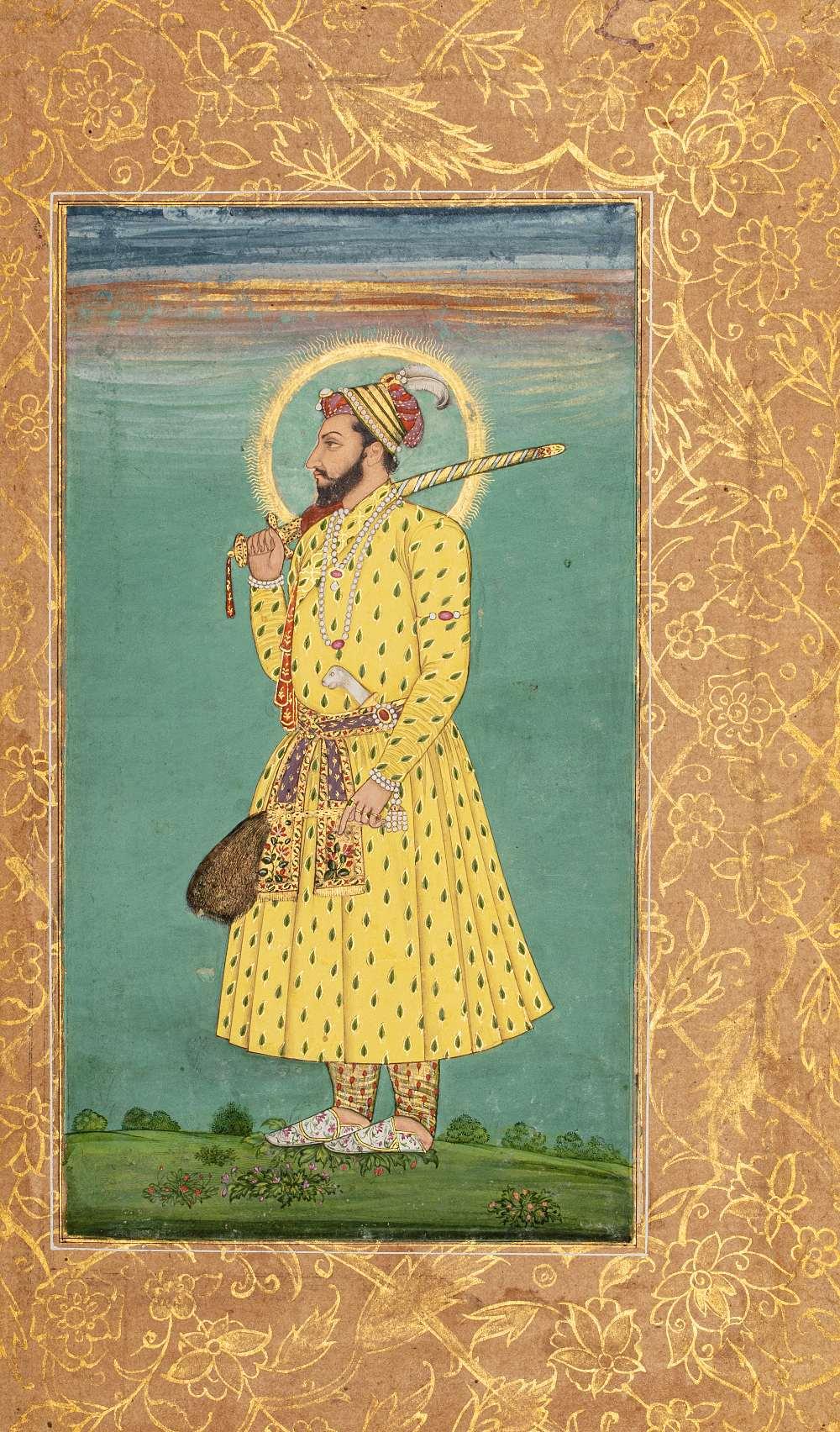 Portrait de Shah Shuja (1616 – 1661)Inde, début du XVIIIe siècleMiniature peinte à la gouache