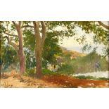 Georges Antoine ROCHEGROSSE (Versailles 1859 - Alger 1938)Les Platanes du jardin Djenan Meryem à