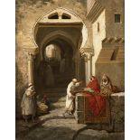 Addison Thomas MILLAR (Bazetta 1860- South Norwalk 1913)Vue de la Casbah d'AlgerHuile sur toile d'