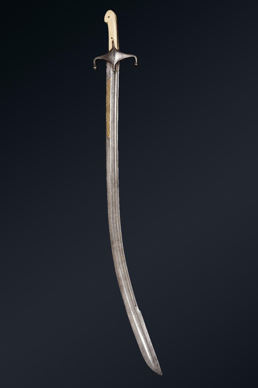 Kilidj pour l'ArabieIran, vers 1850 A poignée à plaquettes en os, à quillons inversés forte lame - Image 3 of 3