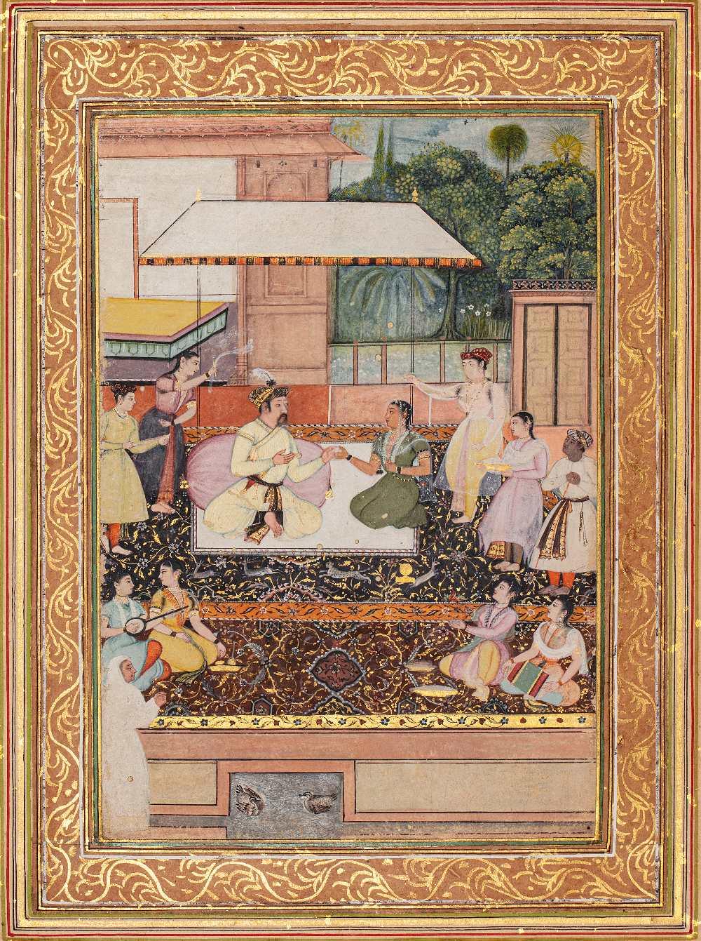 Portrait présumé du Prince moghol Daniyal Mirza (1572-1605)Inde moghole, vers 1610-1620Attribuable à