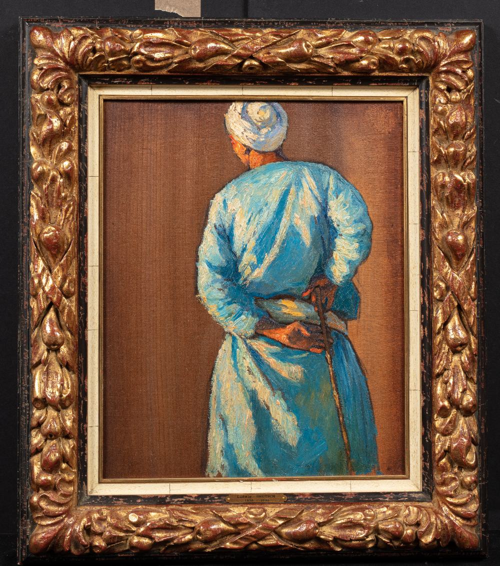 Ludwig DEUTSCH (Vienne 1855-Paris 1935)Homme de dos au bâtonHuile sur panneau 42 x 32 cm Non signé - Image 2 of 3