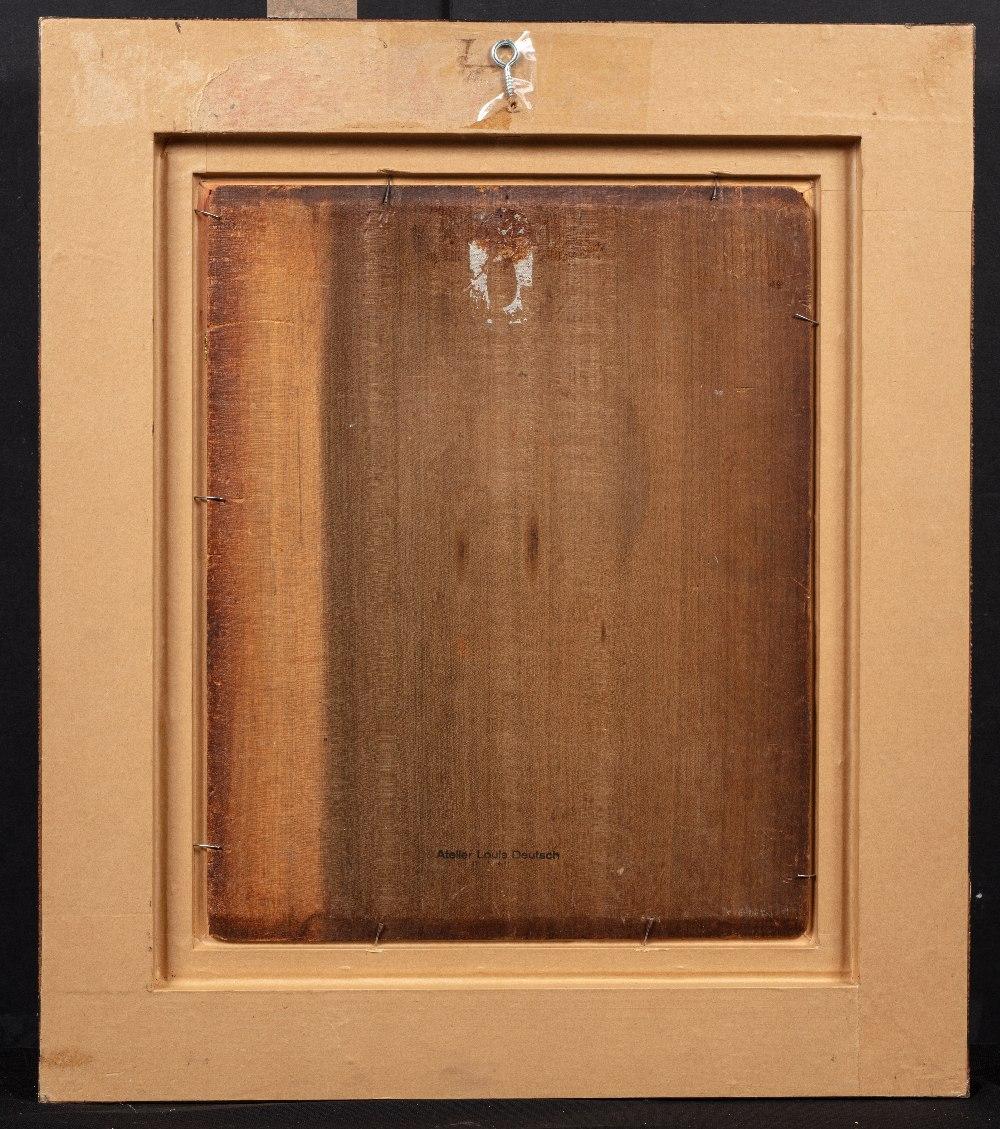 Ludwig DEUTSCH (Vienne 1855-Paris 1935)Homme de dos au bâtonHuile sur panneau 42 x 32 cm Non signé - Image 3 of 3