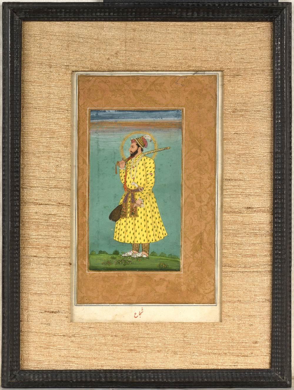 Portrait de Shah Shuja (1616 – 1661)Inde, début du XVIIIe siècleMiniature peinte à la gouache - Image 3 of 5