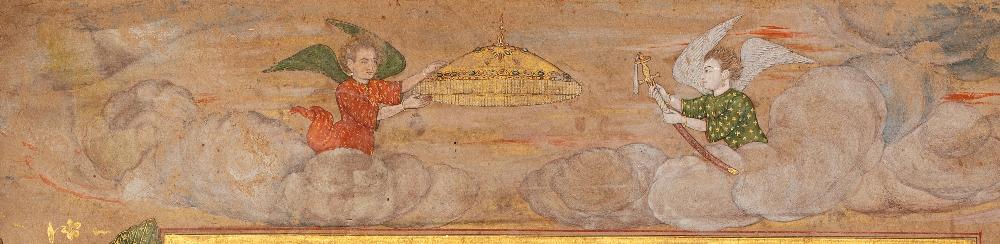 Double portrait de Shah Jahan et Aurengzeb-AlamguirDouble portrait de Shah Jahan (r.1628-1658) et - Image 5 of 8