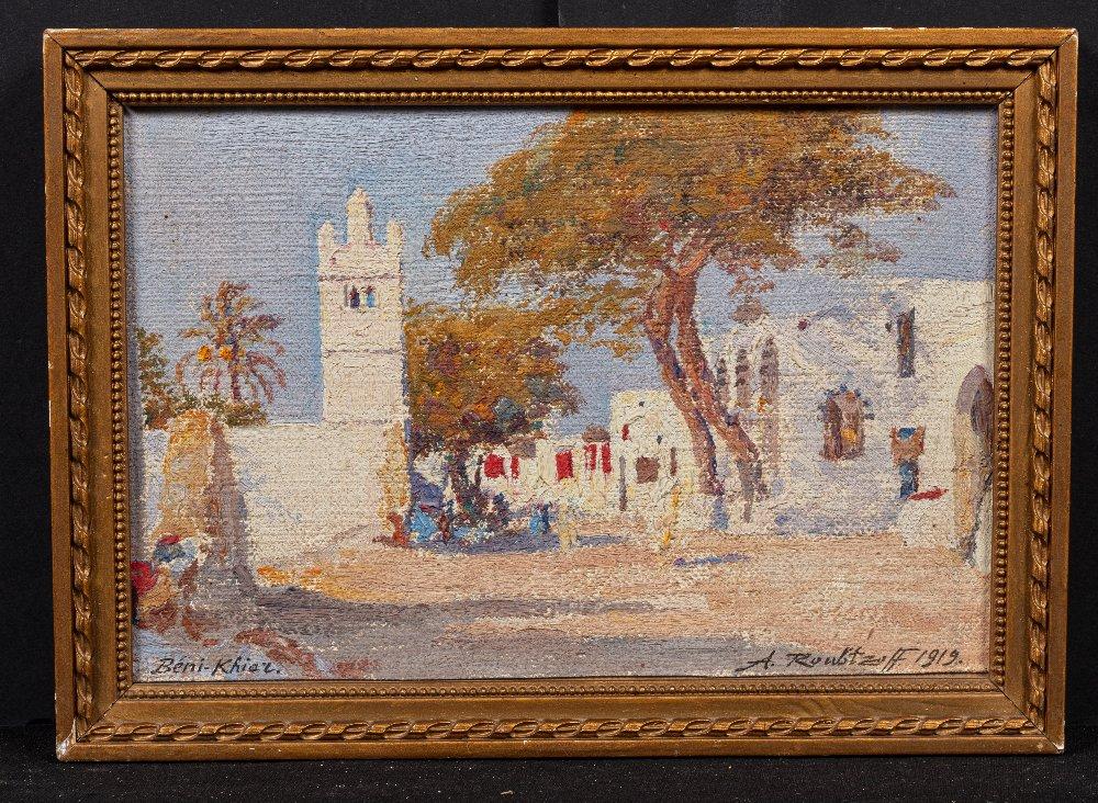 Alexandre ROUBTZOFF (Saint Petersbourg 1884 - Tunis 1949)Beni Khiar, 1919Huile sur toile marouflée - Image 3 of 3