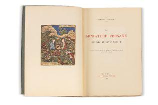 SAKISIAN (Arménag Bey)La Miniature persane du XIIe au XVIIe siècle. Paris et Bruxelles, G. Van Oest,