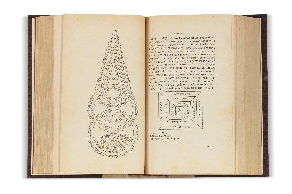 DOUTTÉ (Edmond)Magie & Religion dans l'Afrique du Nord. Alger, Jourdan, 1909.In-8 demi-vélin ivoire, - Image 2 of 2