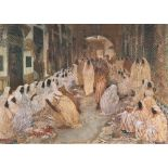 Alexandre ROUBTZOFF (Saint Petersbourg 1884 - Tunis 1949)Le souk El-KachachineHuile sur toile d'