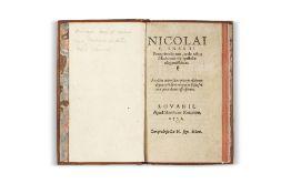 CLAYNAERTS (Nicolas)Peregrinationumac de rebus Machometicis epistolae elegantissimae. Louvain,