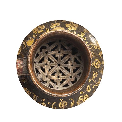 Verseuse ottomaneTurquie, vers 1800Jarre à panse globulaire et haut col tronconique, en terre - Image 2 of 3