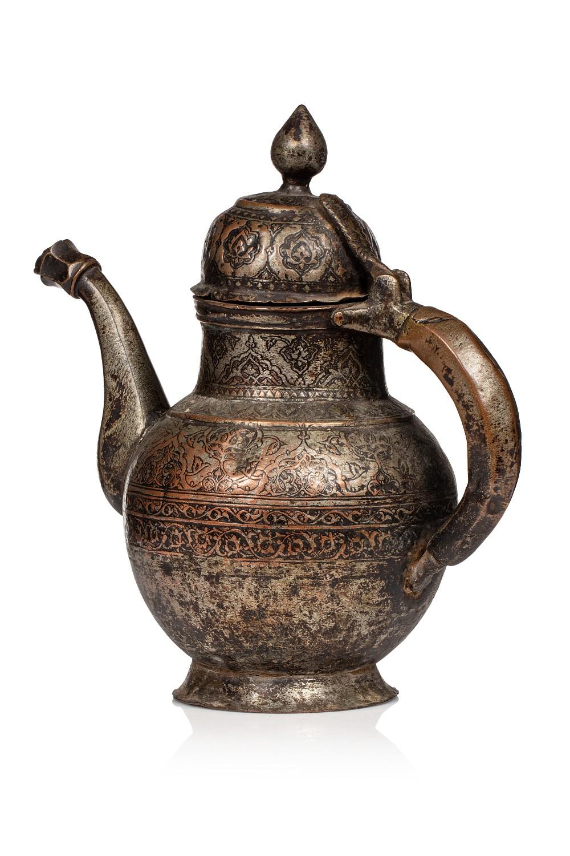 Verseuse au nom de Hashem b. Zendeh AliIran ou Inde, XVIIIe siècleA panse ovoïde, à couvercle en