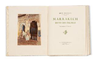 CHEVRILLON (André)Marrakech dans les palmesIllustrations de J.-F. BOUCHOR. Paris, Éditions