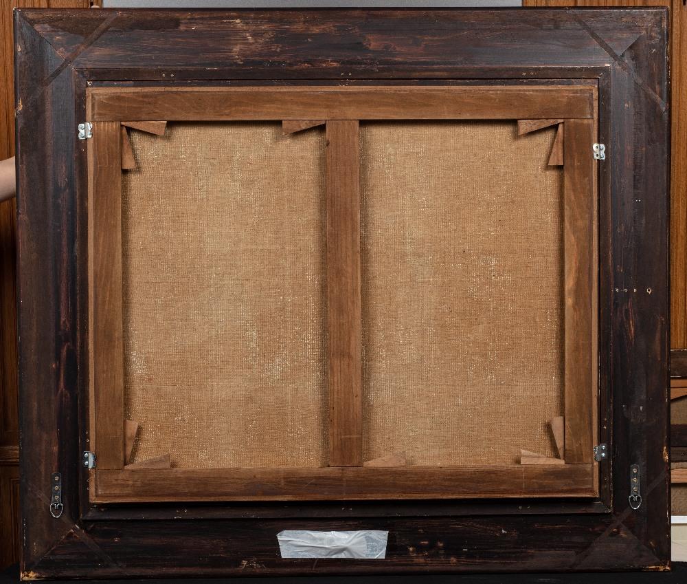 Edouard VERSCHAFFELT (Gand 1874 - Bou Saâda 1955)Les jeunes fileusesHuile sur toile 73 x 90 cm Signé - Image 3 of 3