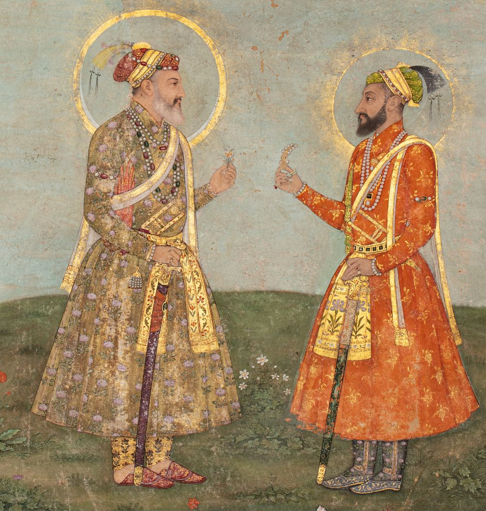 Double portrait de Shah Jahan et Aurengzeb-AlamguirDouble portrait de Shah Jahan (r.1628-1658) et - Image 4 of 8