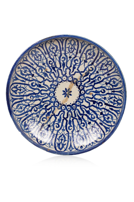Grand Ghotar épigraphiqueGrand ghotar calligraphique Maroc, fin XIXe - début XXe siècle En céramique