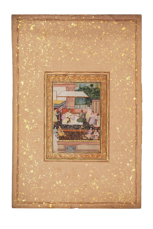 Portrait présumé du Prince moghol Daniyal Mirza (1572-1605)Inde moghole, vers 1610-1620Attribuable à - Image 3 of 5