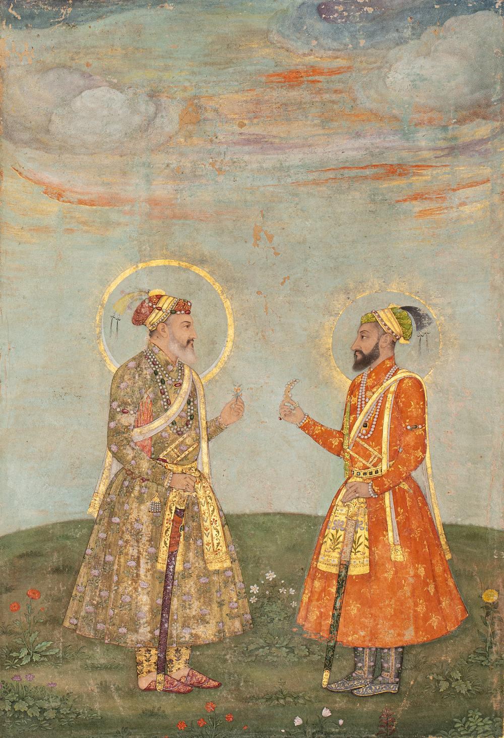 Double portrait de Shah Jahan et Aurengzeb-AlamguirDouble portrait de Shah Jahan (r.1628-1658) et - Image 3 of 8