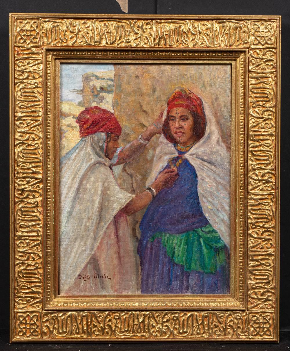Fritz MULLER (1879-1957)Femmes des Ouled NaïlsHuile sur d'origine 40,5 x 30 cm Signé en bas à gauche - Image 2 of 3