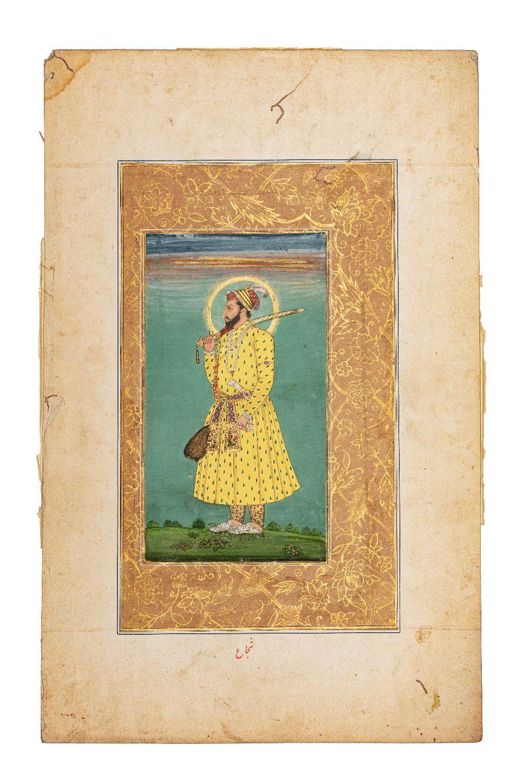 Portrait de Shah Shuja (1616 – 1661)Inde, début du XVIIIe siècleMiniature peinte à la gouache - Image 2 of 5