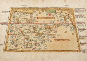ERRATUM : Beautiful map of the Arabian peninsula, one of the earliest map ever printed.