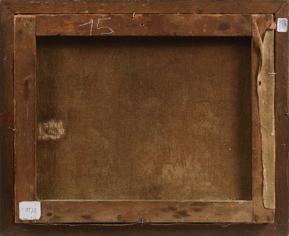 FOUCAUD (Actif au XX ème siècle )Marchands de pains devant Sidi MahrHuile sur toile d'origine 32 x - Image 3 of 3