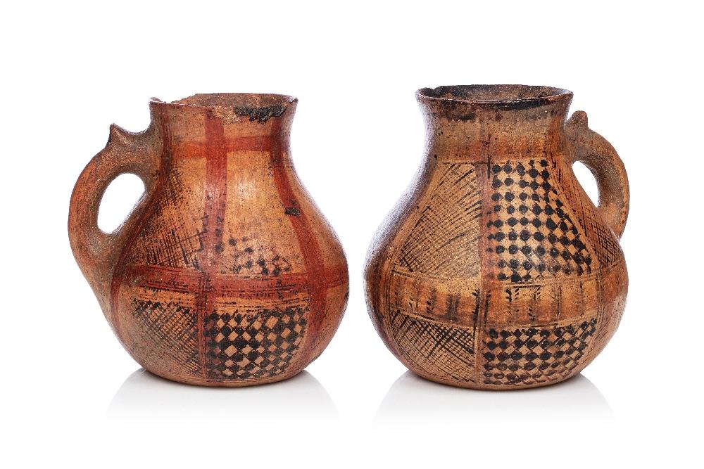 Guerba - Paire de cruches kabylesAlgérie, Grande Kabylie, fin XIXe - début XXe siècleA panse
