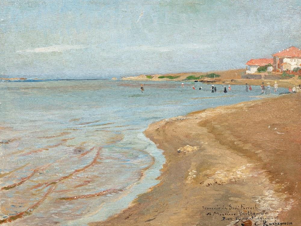 Georges Antoine ROCHEGROSSE (Versailles 1859 - Alger 1938)Le bord de mer, Sidi FerruchHuile sur