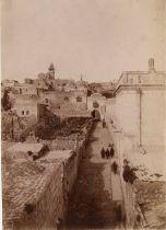JérusalemLes murailles Nord-Est, Porte de Saint-Etienne, Porte Doré, rue, tombeaux d'Absalom ...
