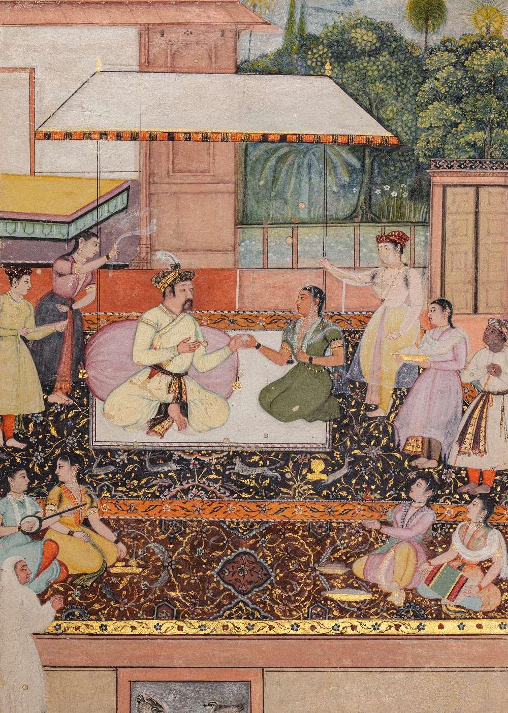 Portrait présumé du Prince moghol Daniyal Mirza (1572-1605)Inde moghole, vers 1610-1620Attribuable à - Image 4 of 5