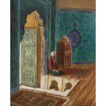 Rudolf ERNST (Vienne 1854-Fontenay aux Roses 1932)Mausolée vert de la Grande Mosquée de BursaHuile