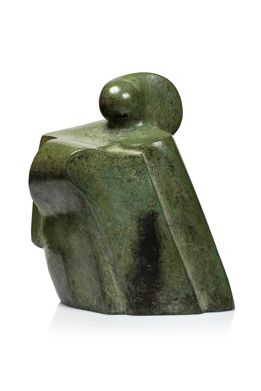 Adam HENEIN (Caire 1929-2020)La Veille silencieuse, 1987Bronze H : 15 x L 13 x P 8 cm Signé A HENEIN