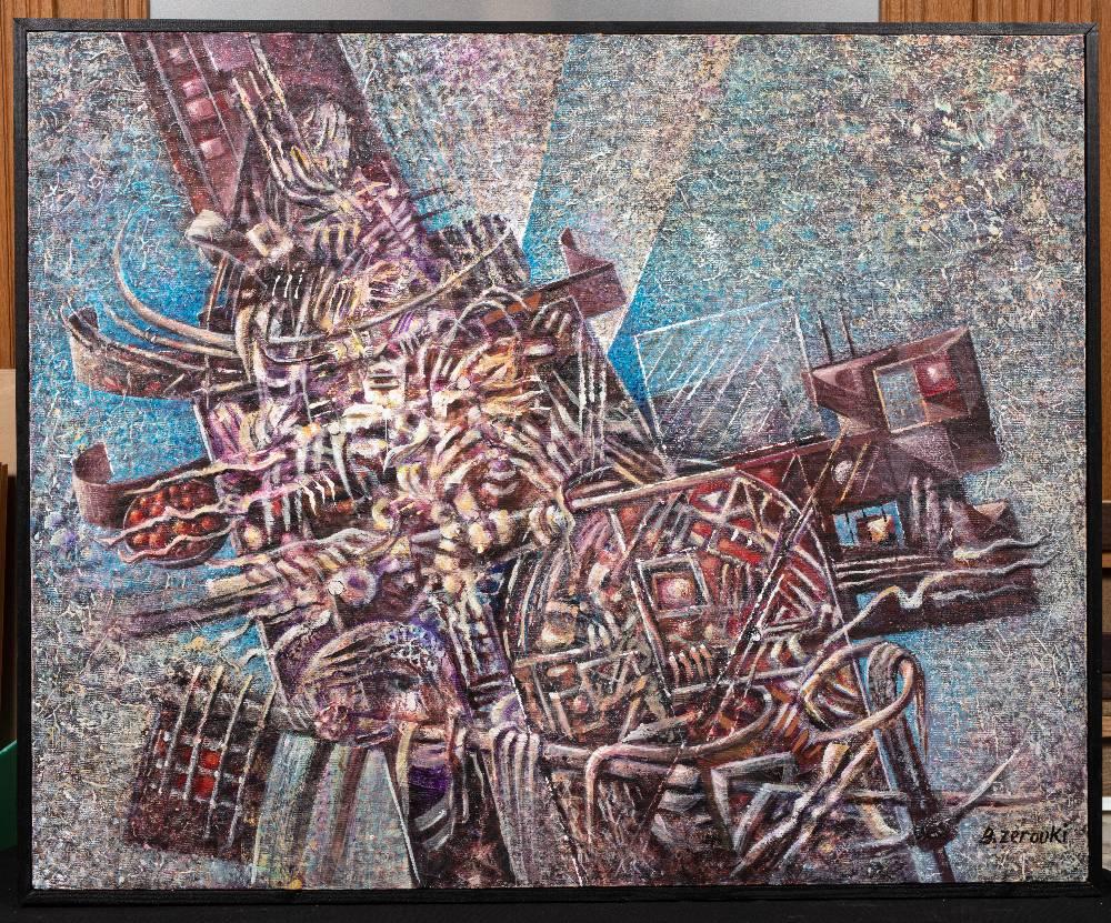 Zerrouki BOUKHARI (Mostaganem 1944)Le mystère des apparencesAcrylique sur toile 100x90 cm Signé en - Image 2 of 3