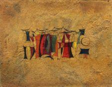 Khaled Al-Rahhal (Bagdad 1926-1987)Danse arabe (Dabkeh El Arabi), 1960Huile sur isorel 49 x 64,5
