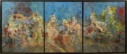 Abdallah BENANTEUR (Mostaganem 1931 - Ivry-sur-Seine 2017)Hommage à Paolo Ucello, 1983Huile sur