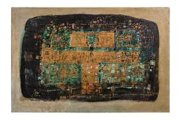 Jafar ROUHBAKHSH (Mashhad 1940-1996)Sans titre, 1990Huile sur toile 59 x 89 cm Signé en persan et en
