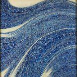 """Nasrollah AFJEHEI (Téhéran, 1933)Sans titreEncre sur toile 119,5 x 120 cm Signé en persan """"Nasrollah"""