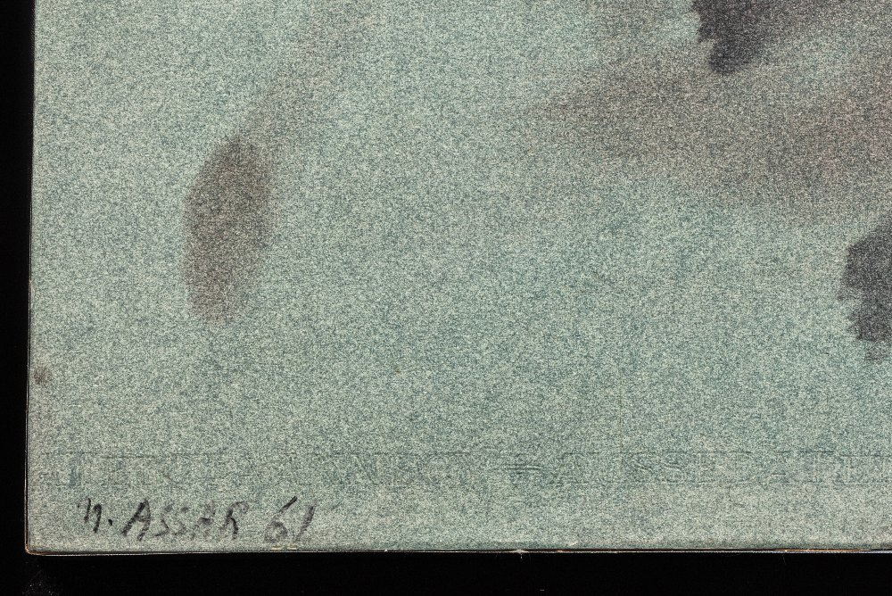 Nasser ASSAR (Téhéran 1928 - Paris 2011)Composition,1961Huile sur papier, marouflé sur toile 50 x 65 - Image 2 of 3