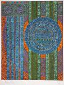 Charles Hossein ZENDEROUDI (Téhéran 1937)Sans titreSérigraphie tirée en couleurs sur vélin. 66 x