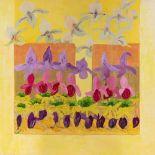Leila BEYDOUN CHALABI (Liban)L'allée du printemps, 2001Huile sur toile 120 x 120 cm Signé en bas à