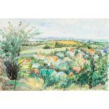 Samir SALAMEH (Palestine 1944)Csokako Landscape, 2018Aquarelle et acrylique sur papier 44 x 29 cm