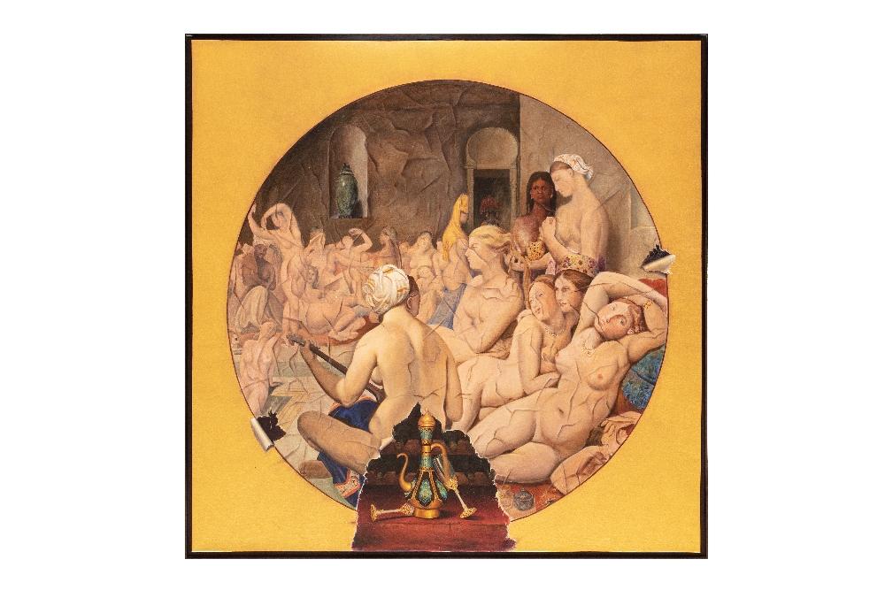 Ehsan BAYAT (Iran 1984)Tribute to Ingres, 2016Huile sur toile 150 x 150 cm Provenance : Collection