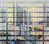Driss OUADAHI (Casablanca, 1959)Crushing Zone, 2008Huile sur toile 90 x 100 cm Signée, daté et titré