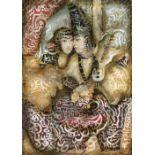 """Ali JAMSHIDI (Téhéran 1965)Eshgh """"Amour"""", 2014Huile sur toile 176 x 126 cm Provenance : Collection"""