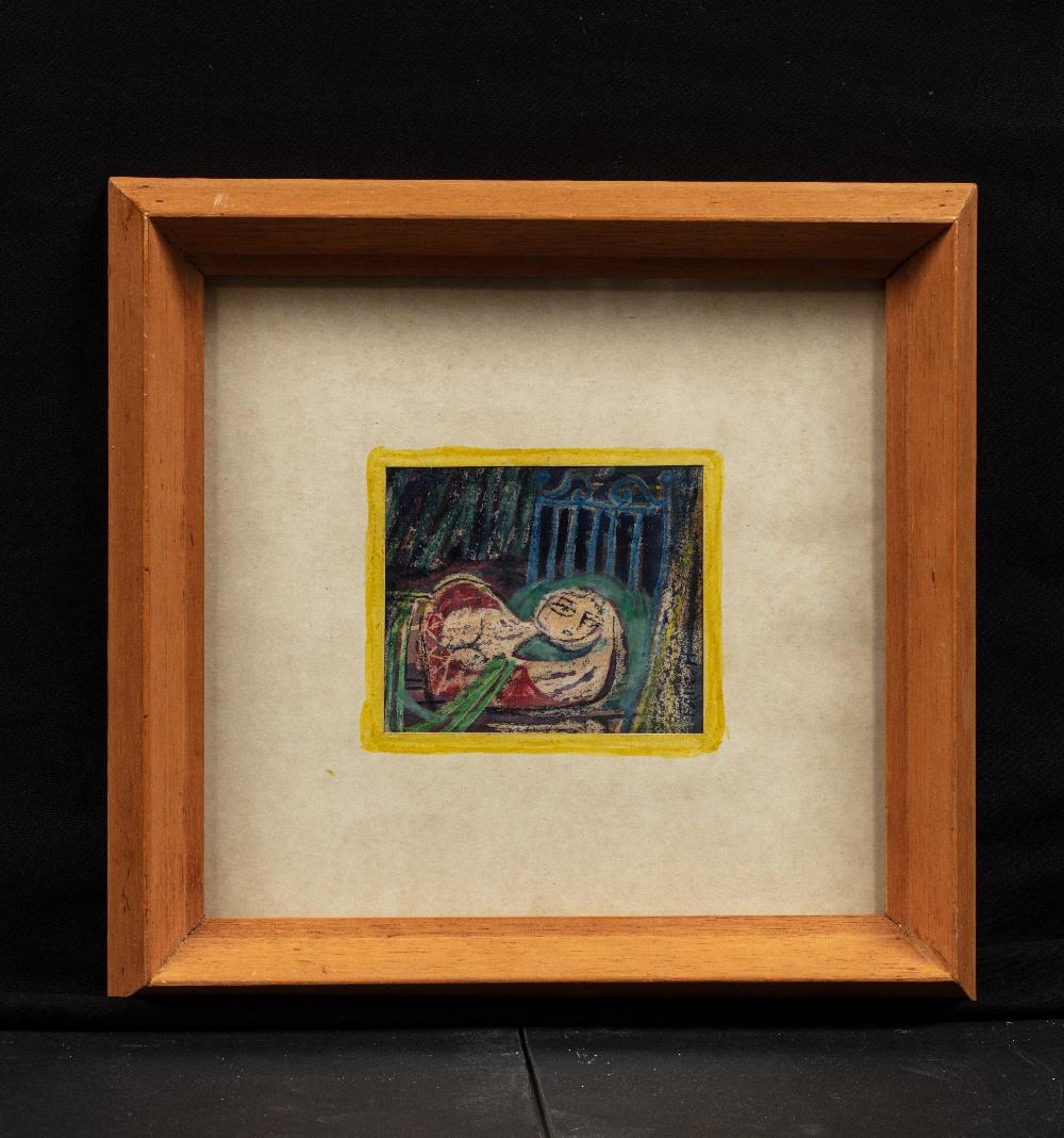 Faik HASSAN (Bagdad 1914–1992)Femme allongée, circa 1950Technique mixte sur papier 8 x 9,5 cm - Image 2 of 2