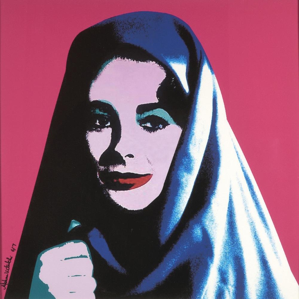 Afshan KETABCHI (Iran 1966)Liz undercover, 2008Sérigraphie en couleurs sur toile 73 x 71 cm